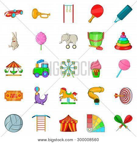 Bauble Icons Set. Cartoon Set Of 25 Bauble Icons For Web Isolated On White Background