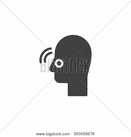 Nose Pain Vector Icon. Nasal Congestion Filled Flat Sign For Mobile Concept And Web Design. Inflamma
