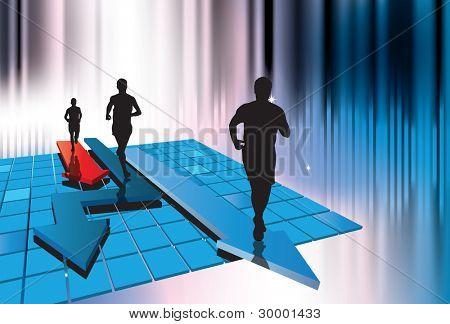 Jogger. Vector illustration.