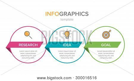 Infographic Design With Icons And 3 Options Or Steps. Thin Line Vector. Infographics Business Concep