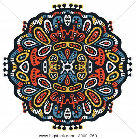 Psychedelic decorative element.