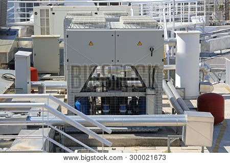 Ventilation Heating And Air Conditioning At Building Rooftop Hvac