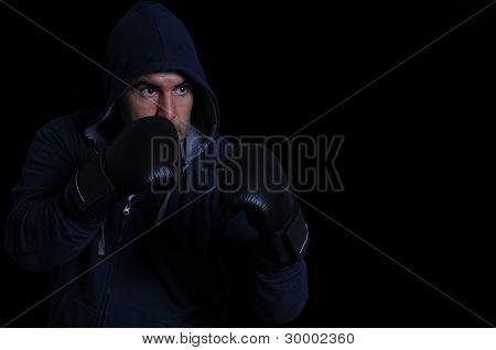 Fighter On Black Background