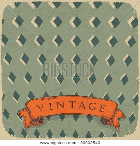 Circus ornamented retro card, vector background