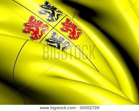 Flag Of Hainaut , Belgium.