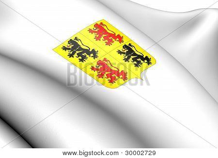 Hainaut Coat Of Arms, Belgium.