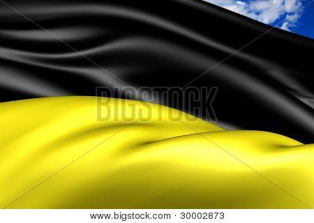 Flag Of Munich, Germany.