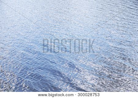 Rippled Water Texture Nature Background With Copy Space