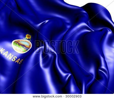 Flag Of Kansas, Usa.