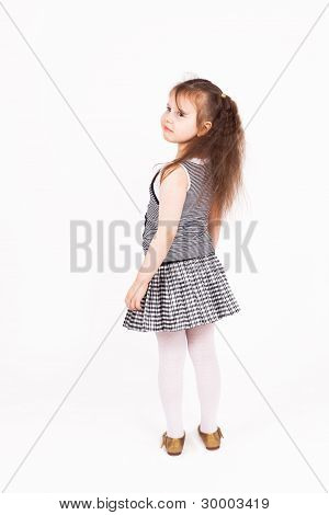 Beautiful Young Child Girl Standing