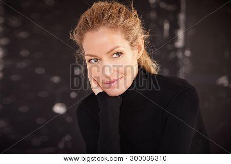 Daydreamer Mature Woman Studio Portrait