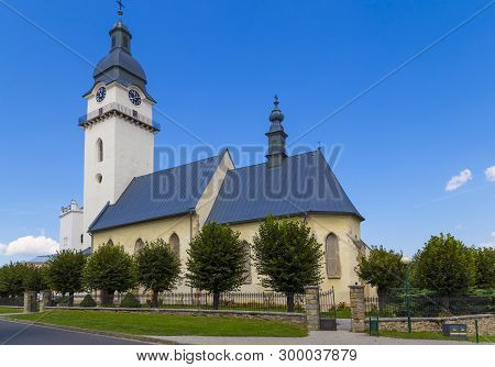 Ancient Church Of St. Anthony The Hermit In Historical Center Of Old Town Spisska Bela. Slovakia. Eu