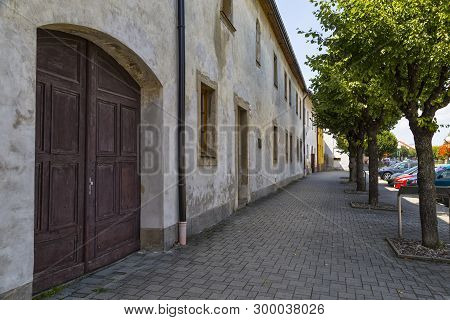 Historical Center Of Old Town Spisska Bela. Slovakia. Street With Row Of Renaissance Burgher Colorfu