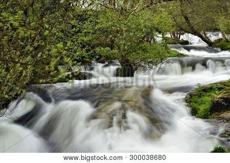 Water Movement; Mountain Stream In Winter, Brook