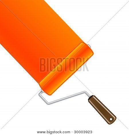 Orange paint roller background