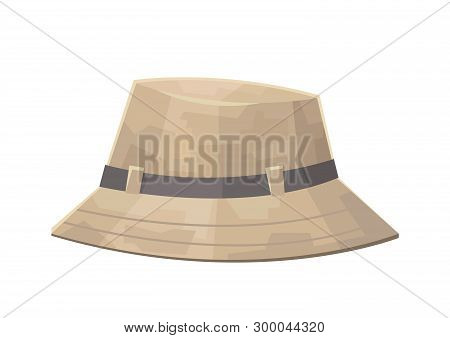 Cute Camping Safari Hat Isolated On White Background Vector