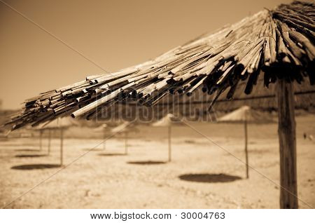 tent and shadow on the beach
