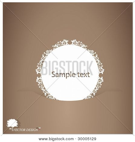 Retro greeting card template design-vintage card design.