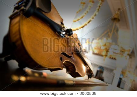 Old Violin Close-Up
