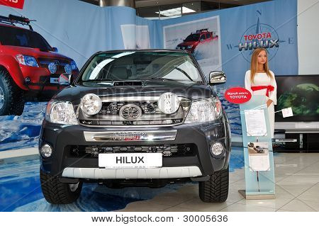 "Kiev - September 11:  Toyota Hilux At Yearly Automotive-show ""capital Auto Show 2011"". September 11,"