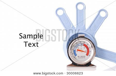 Oven/fridge Thermometer With Measuring Cups