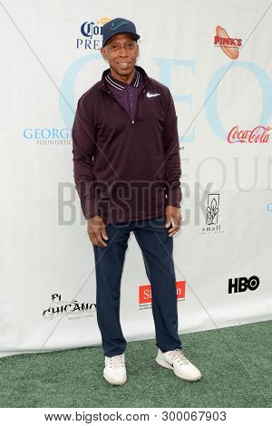 LOS ANGELES - MAY 6:  Jeffrey Osborne at the George Lopez Golf Tournament at the Lakeside Golf Club on May 6, 2019 in Burbank, CA