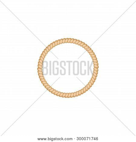 Cordage Marine Rope Or Twisted Cord Rolled Ivector Illustration Isolated On White.