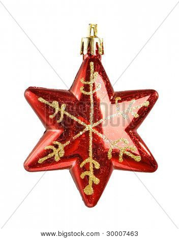 Christmas star toy isolated on white