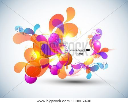 Color Vector Bubbles Banner, Heart Design