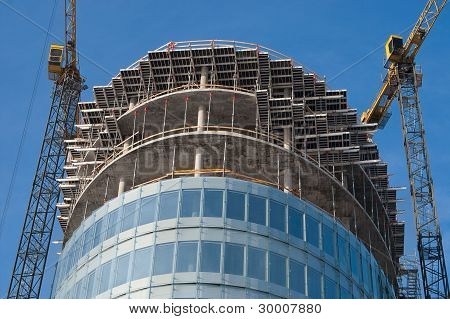 Construction Of Modern Office Buildings