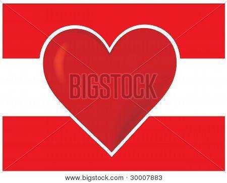 Heart Austria Flag