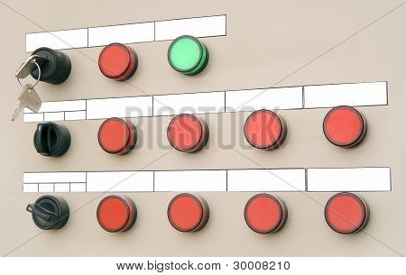 Electrical Panel With Buttons