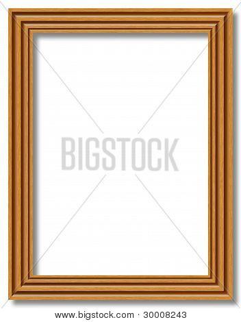 Empty Wooden Frame