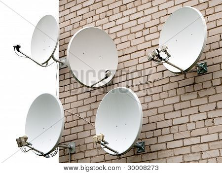 Five Satellite Antennas