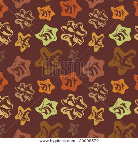 Brown Background With Varicoloured Abstract Elements