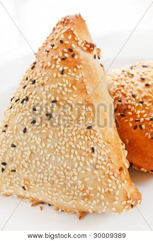 buns with sesame seeds