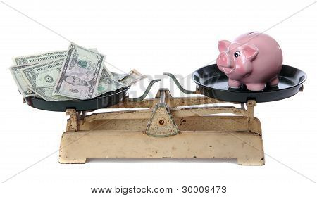 Dollars And Piggy Bank