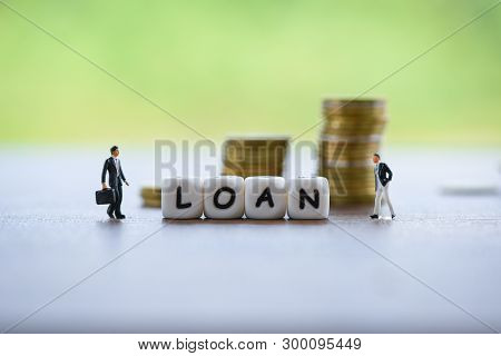 Businessman Financial Loan Negotiation For Lender And Borrower On Business Document Mortgage Loan Ap