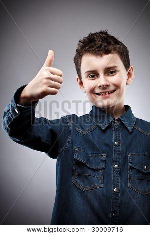 Cute Kid Thumbs Up