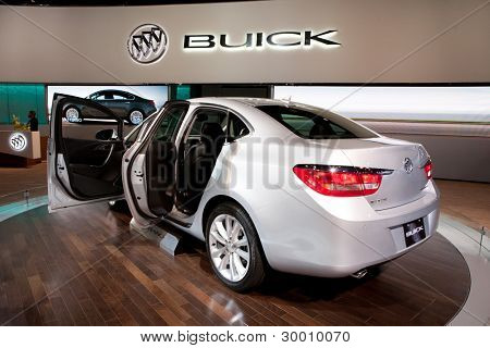 CHICAGO - FEB 12: The 2013 Buick Verano on display at the 2012 Chicago Auto Show. February 12, 2012 in Chicago, Illinois.
