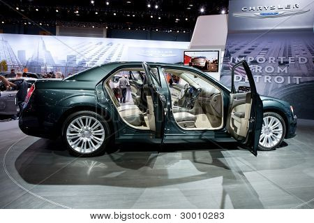 CHICAGO - FEB 12: The 2013 Chrysler 300 on display at the 2012 Chicago Auto Show. February 12, 2012 in Chicago, Illinois.