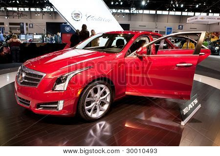 CHICAGO - FEB 12: The 2013 Cadillac ATS on display at the 2012 Chicago Auto Show. February 12, 2012 in Chicago, Illinois.