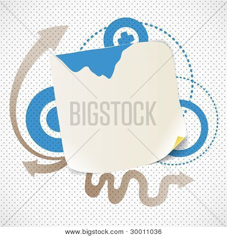 Abstract background with the blank white paper