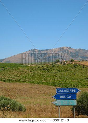 Sicilian Road Signs