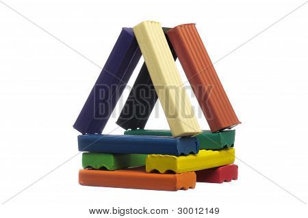 Toy House From Plasticine