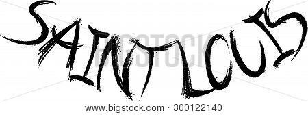 Saint Louis Text Sign Illustration