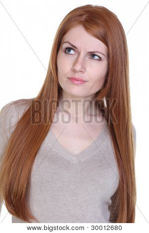 young beautiful redhair woman