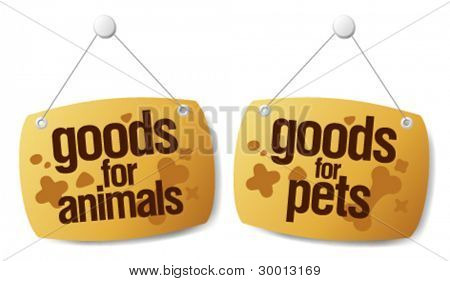 doods for pets signs set