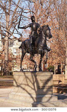 Joan D'arc Statue In Meridian Hill Park