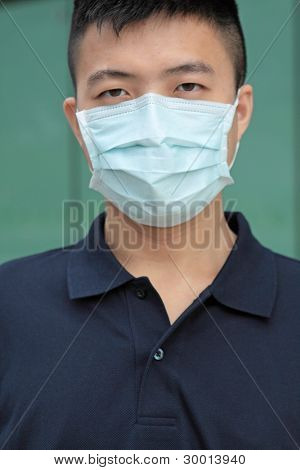 man wear mask outdoor